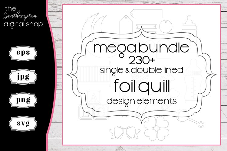 230 plus Mega Bundle Foil Quill Single & Double Line Designs