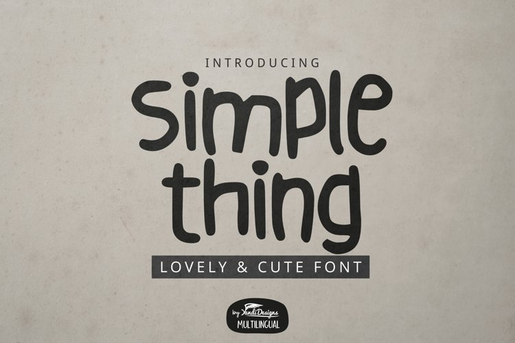 Simple Thing Font example image 1