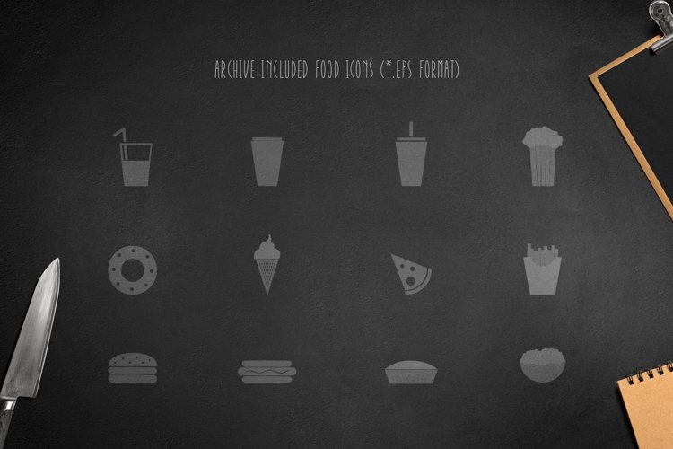 Montclar Font & Food Icons example 4