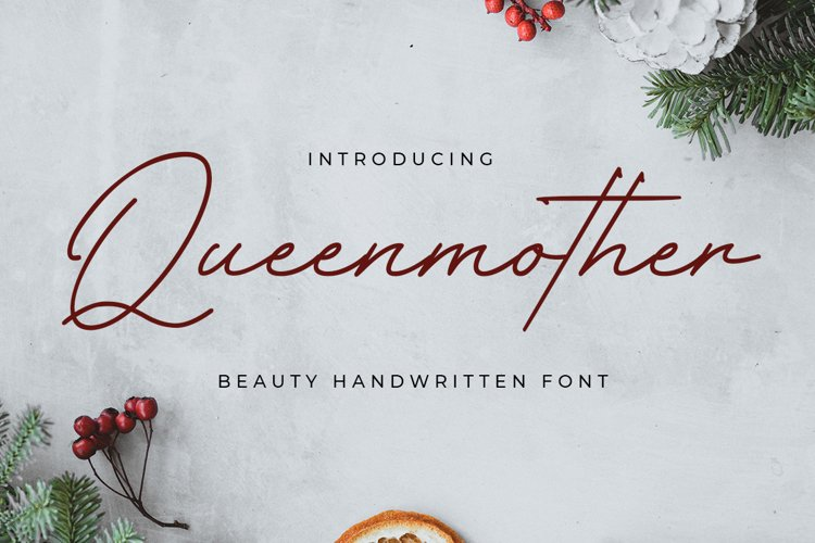 Queenmother - Elegant Handwritting example image 1