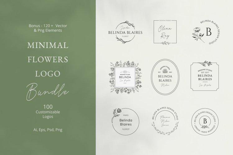 Minimal Flowers Logo Bundle