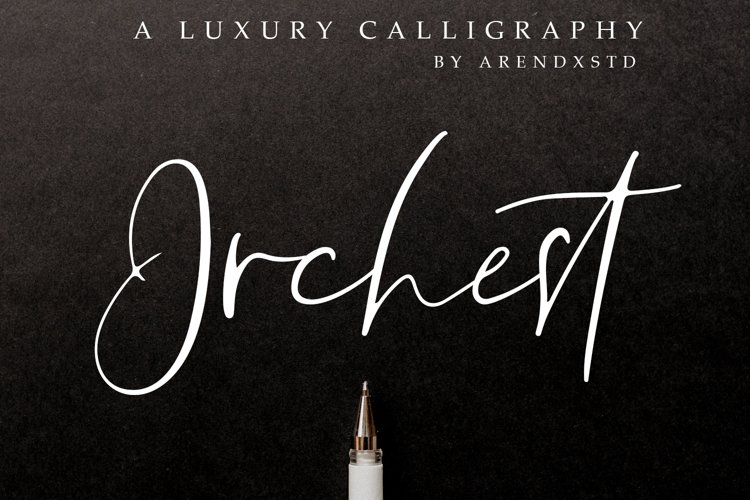Orchest Luxury Calligraphy Font example image 1