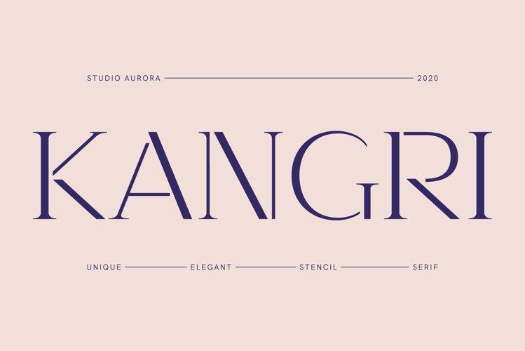 Kangri - Unique Elegant Stencil Serif example image 1