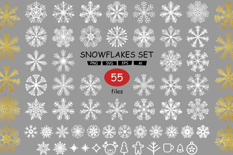 Set with snowflakes example image 1