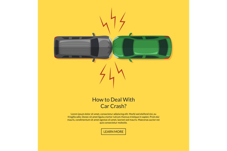 Vector two cars accident top aerial view illustration example image 1