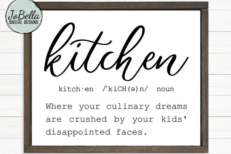 Funny Kitchen Definition SVG, Sublimation PNG & Printable