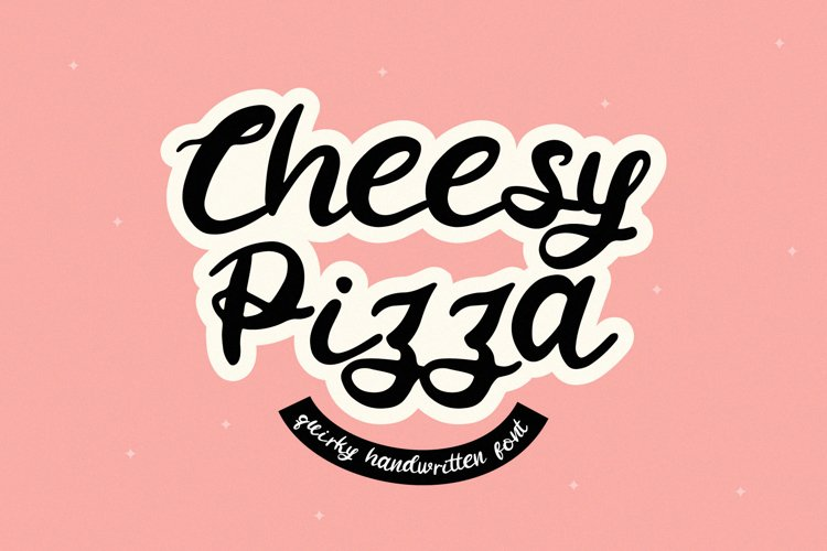 Cheesy Pizza - a Lovely Handwritten Font example image 1