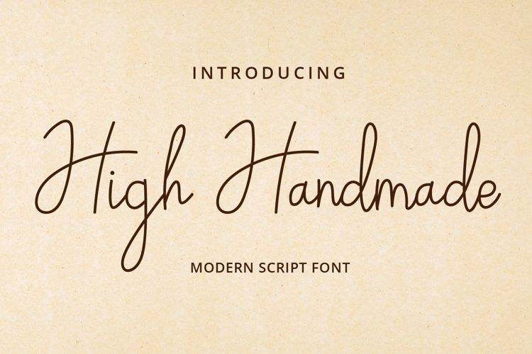 High Handmade example image 1