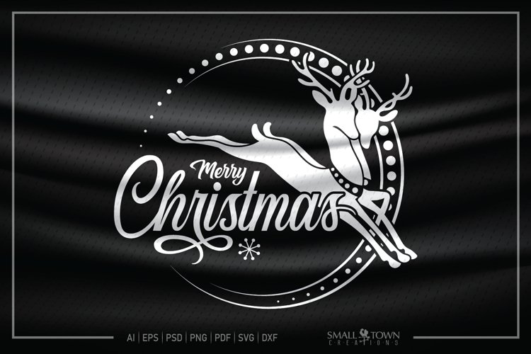 View Vintage Merry Christmas ~ Cutting Design DXF