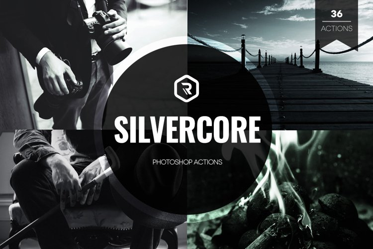 Silvercore B&W Photoshop Actions example image 1