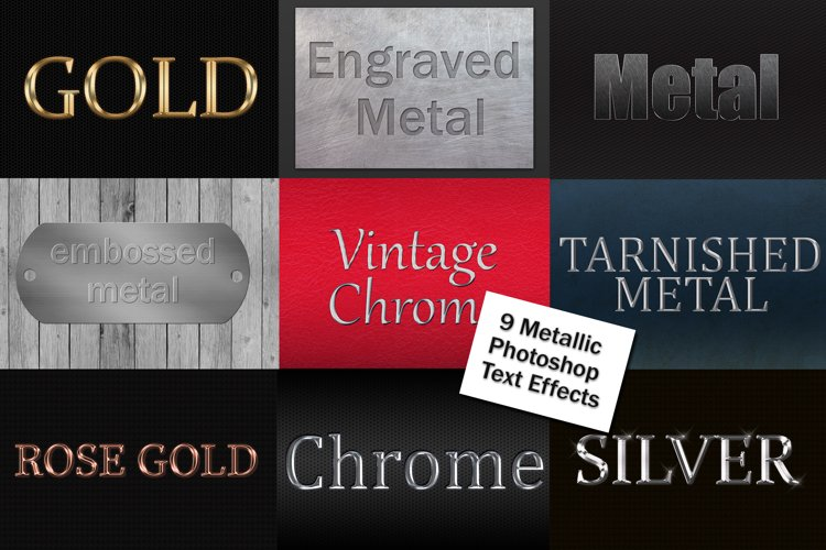 Metallic Photoshop Layer Style Text Effects