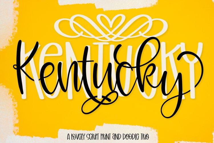 Kentucky - A Script Print & Doodle Font Trio example image 1