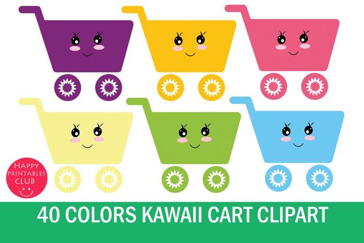 Kawaii Cart Clipart-Shopping Cart Clipart Graphics