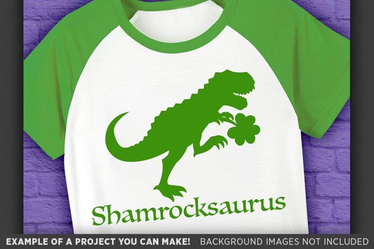 Dinosaur Svg File - Shamrockasaurus St. Patricks Day - 1067 example image 1