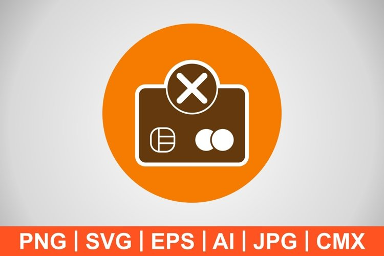 Vector Payment Failure Icon example image 1
