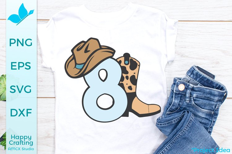 Cowboy Number 8 - 8th Birthday Craft File