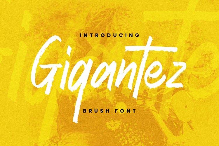 Web Font Gigantez Font example image 1