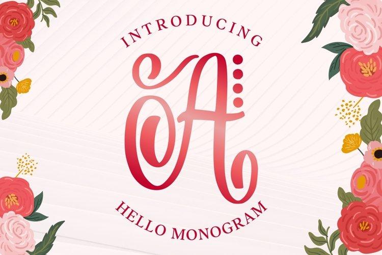 Hello Monogram Letters