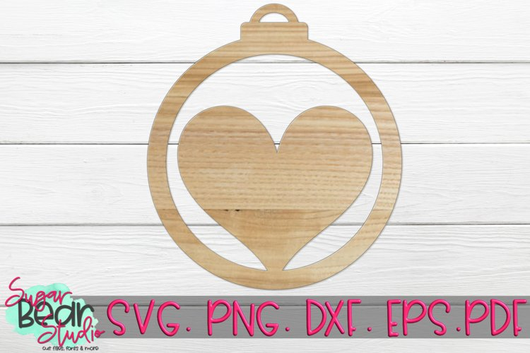 Round Heart Ornament - A Holiday SVG
