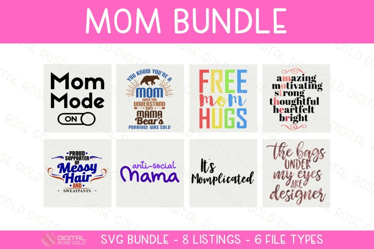 Mom Bundle - SVG BUNDLE - New Mama Mother Baby SVG Designs example image 1