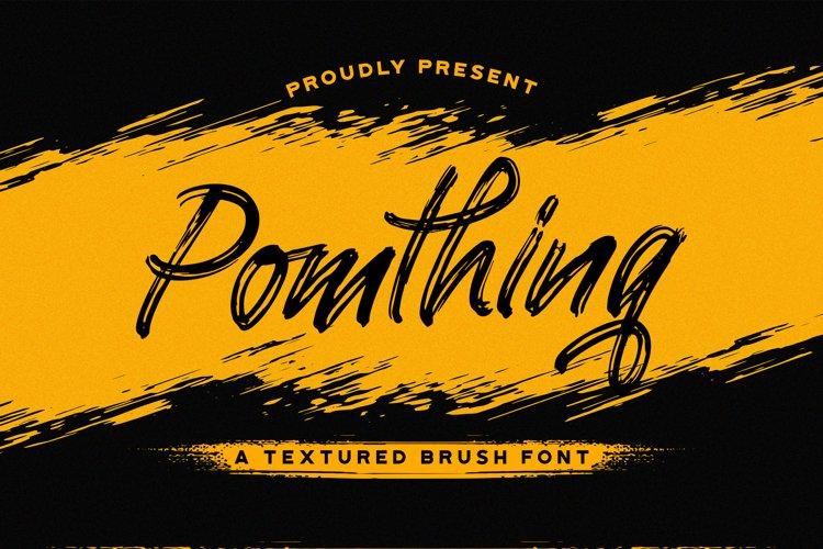 Pomthinq - Brush Script Font example image 1