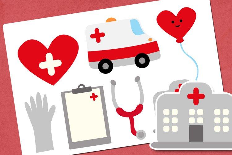 Hospital and medical illustrations