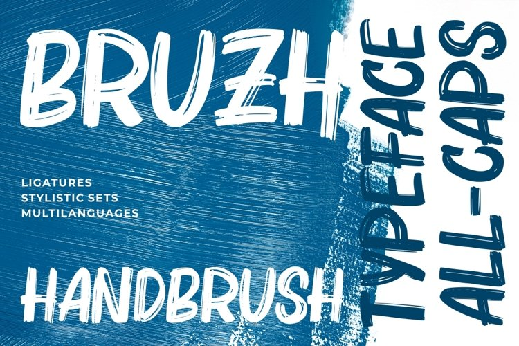 Bruzh - Handbrush Font example image 1