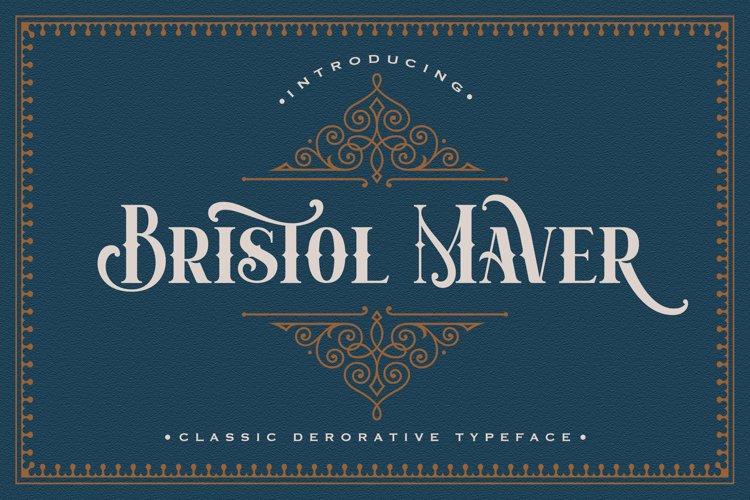 Bristol Maver - Decorative Font example image 1
