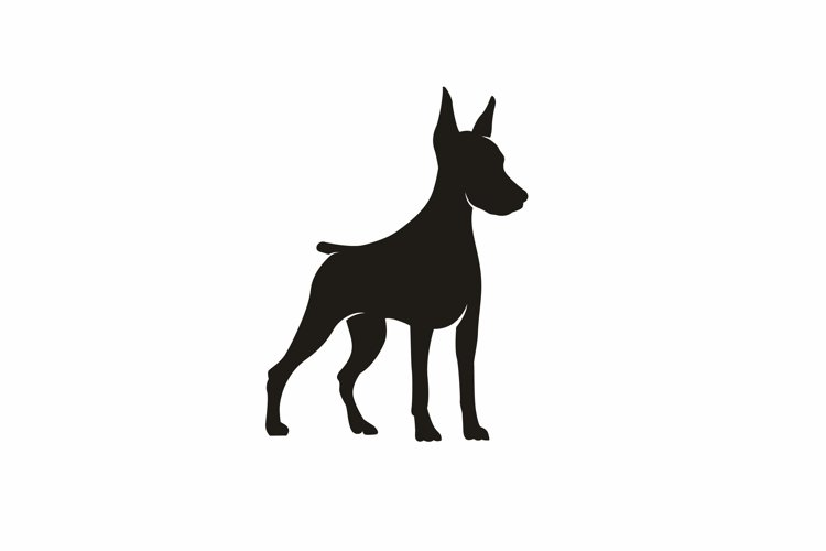 Silhouette of a Standing Doberman Dog example image 1