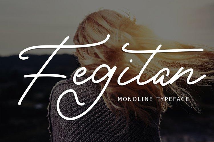 Fegitan Monoline Typeface example image 1