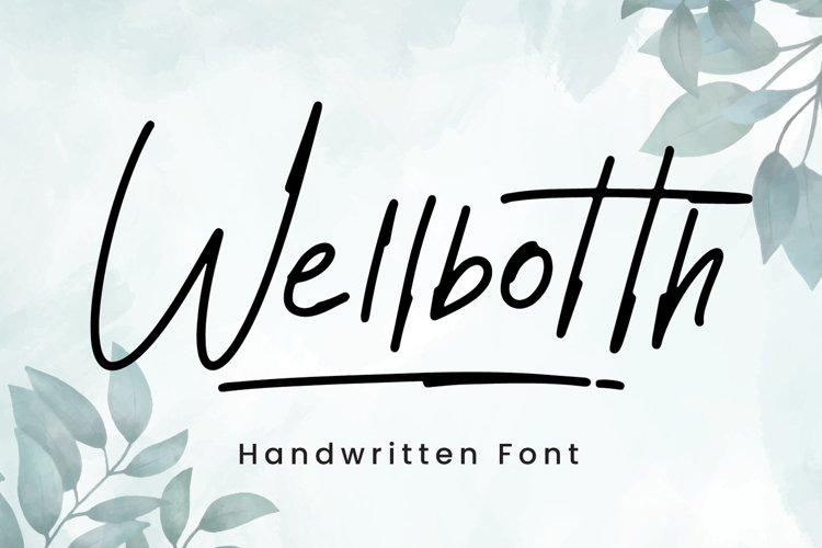 Wellbotth - Handwritten Font example image 1