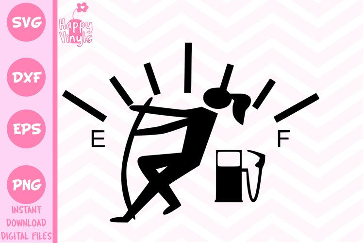 Gas Needle Girl - A Funny Decal SVG