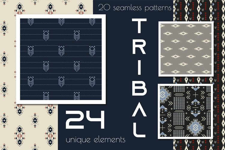 20 Tribal pattern and 24 elements example image 1