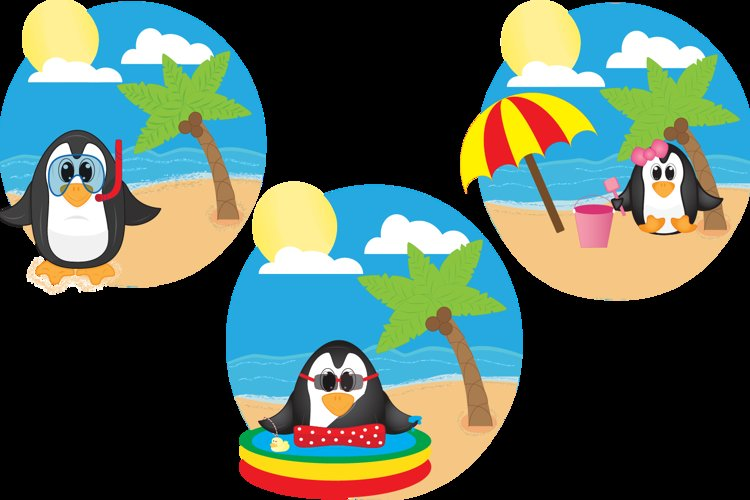Summer Penguins example image 1