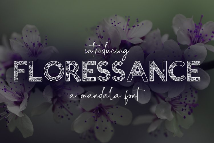Floressance - a mandala font example image 1
