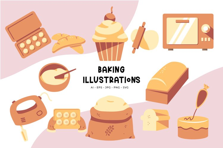 Baking illustrations