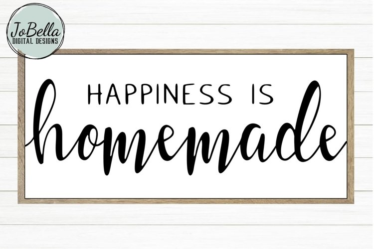 Happiness Is Homemade SVG, Sublimation PNG & Printable example image 1