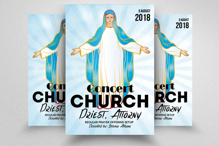 Jesus Church Flyer Template example image 1