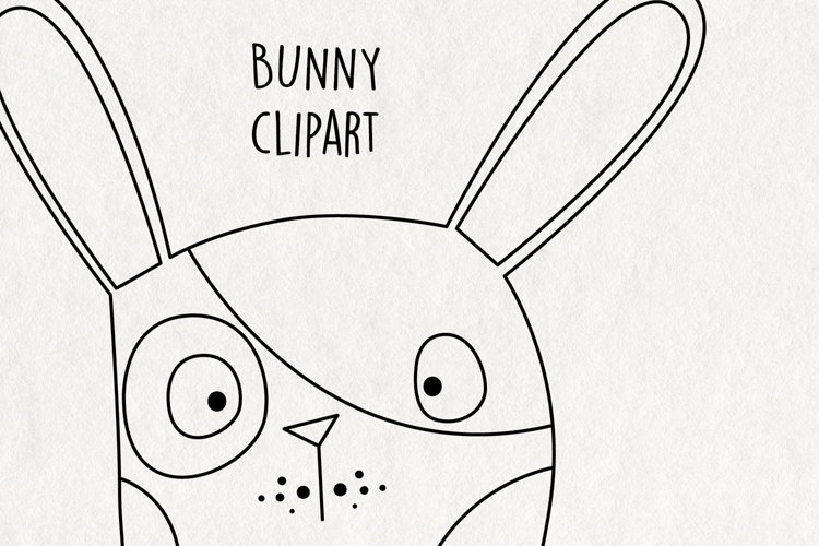 Bunny Clipart SVG. Instant Download Printable.