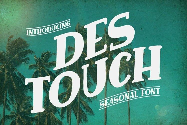 Web Font Des Touch Font example image 1