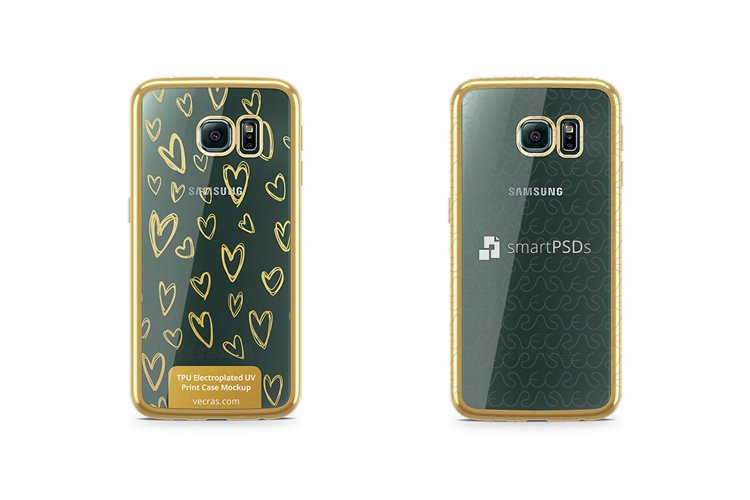 Samsung Galaxy S6 EdgeTPU Electroplated Case Design Mock-up example image 1