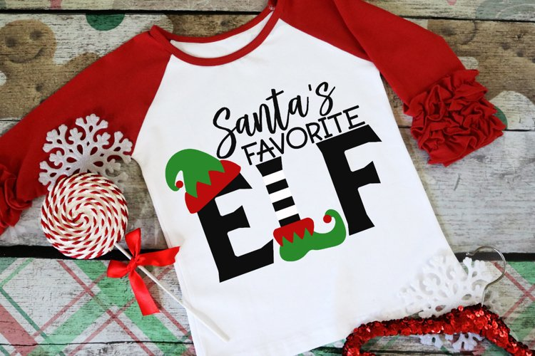 Santas Favorite Elf - Christmas SVG
