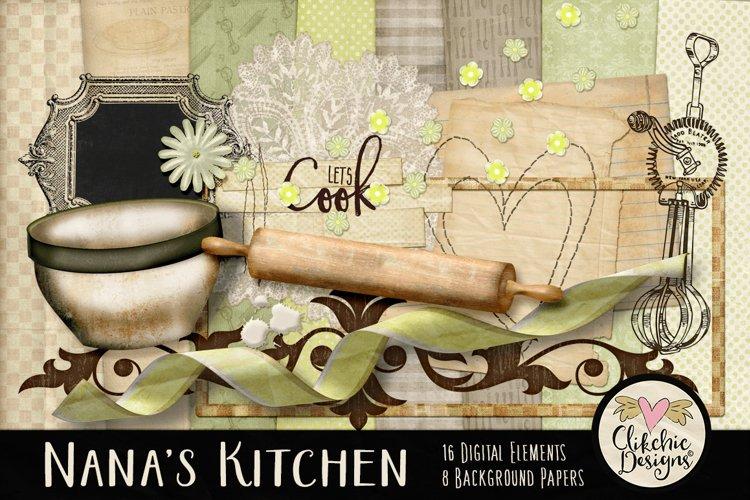Nana's Kitchen Digital Scrapbook Kit example image 1