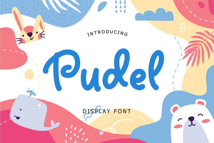 Pudel Display Font example image 1