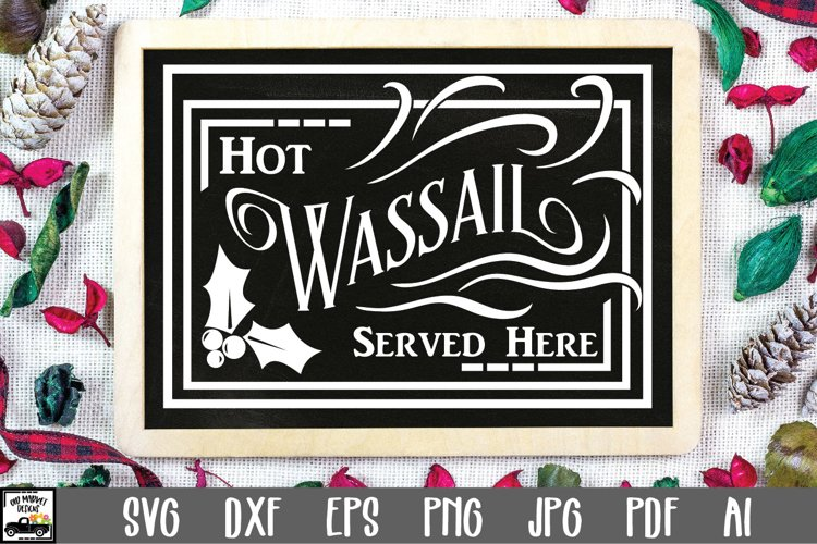 Christmas SVG Cut File - Hot Wassail SVG File example image 1