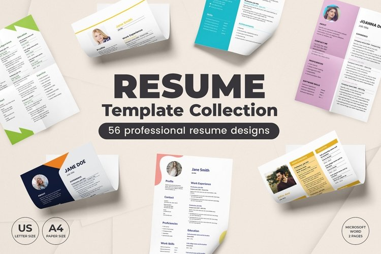 Resume Template Collection   CV Template Pack SALE