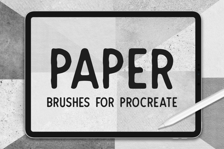 PAPER TEXTURE BRUSHES FOR PROCREATE example image 1