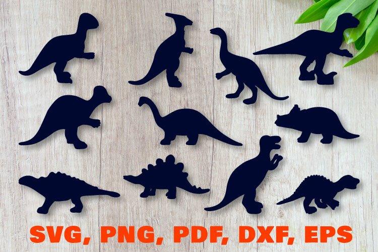 Dinosaur silhouettes bundle. SVG, PNG, EPS