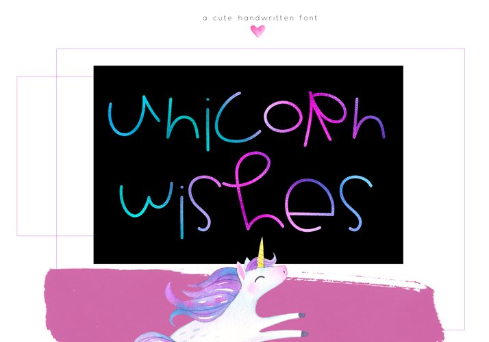 Unicorn Wishes - Quirky Handwritten Font example image 1