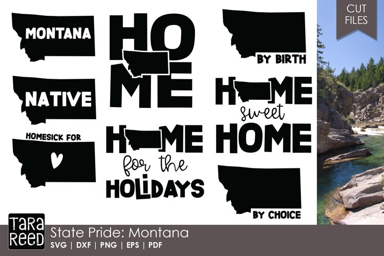 Montana SVG and Cut Files for Crafters example image 1